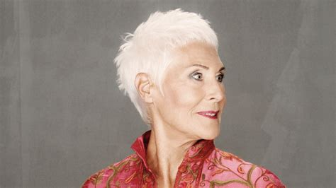 super short haircut  older women  white hair