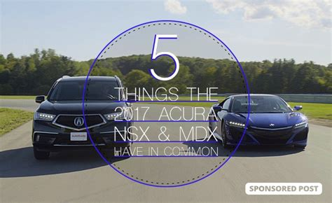 5 Things The Acura Nsx And Mdx Have In Common » Autoguide