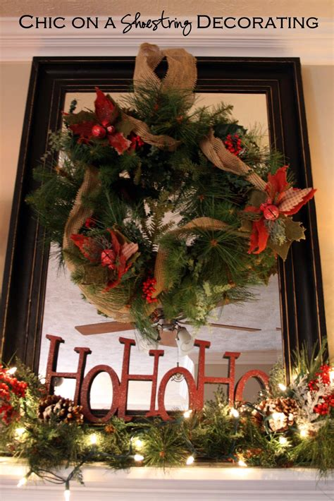 rustic christmas chic on a shoestring decorating christmas home tour part 2 rustic christmas