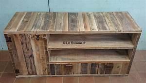 Acheter Meuble En Palette Bois : meuble bas bois de palettes sur mesure plateaux de table ~ Premium-room.com Idées de Décoration