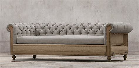 Restoration Hardware Soho Tufted Sofa by Sofas Restoration Hardware