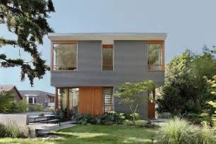 shed architectural style warm modern home of concrete and wood details design