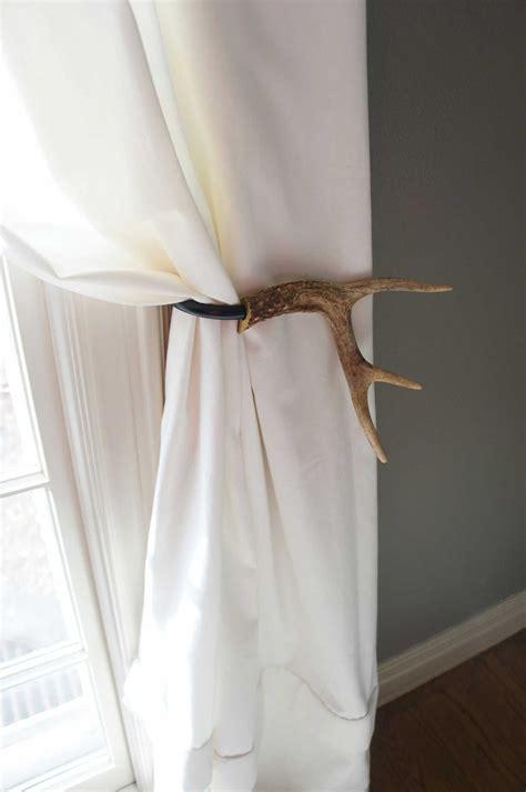 curtain tieback deer antler tie back holdback by