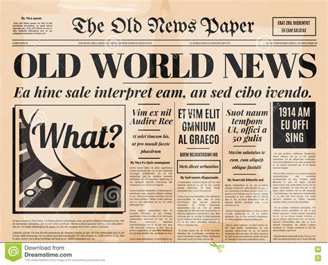 Vintage Newsletter Template