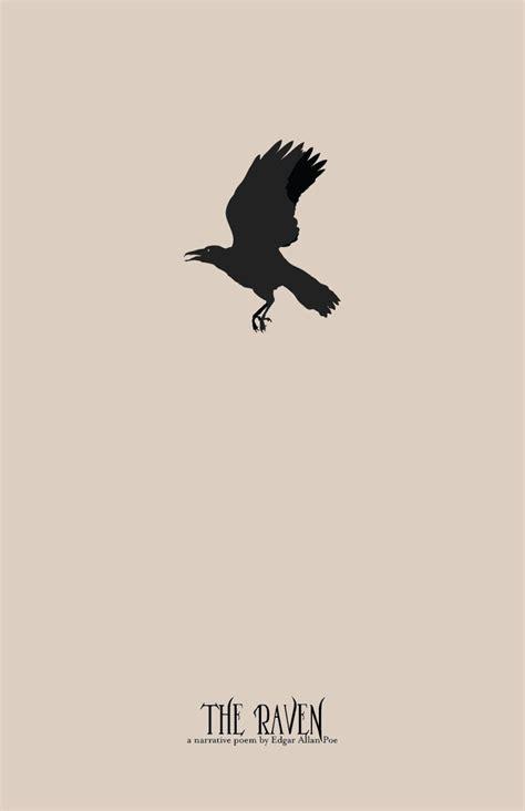 Edgar Allan Poe Print Series  The Raven  Minimalist Literature Poster  Edgar Allan Poe And