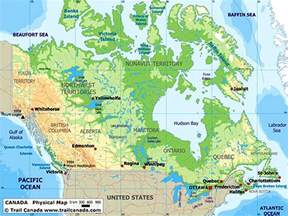 Canada Physical Features Map