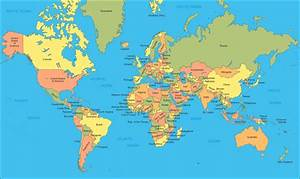 Printable World Maps with Countries Labeled | World Map ...