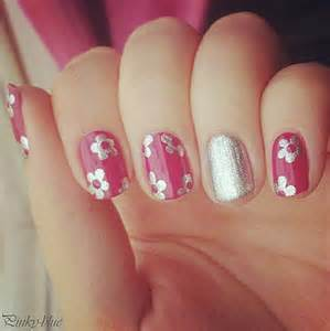 Simple nail designs pink polish hand