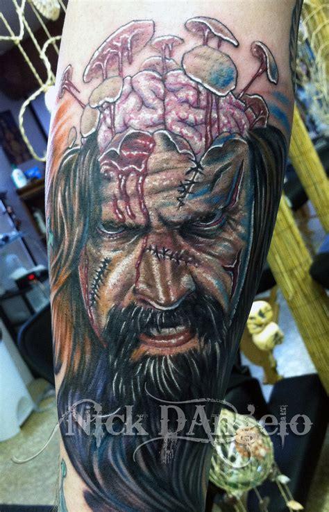 tattoo zombie rob tattoos 3d designs arm coolest traditional deviantart echomon portrait greek