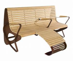 guyon mobilier urbain banc bois allrelax 1015 repose pieds With meuble urbain