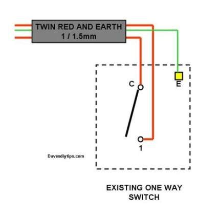 One Way Lighting Circuit Modified For Two Switching