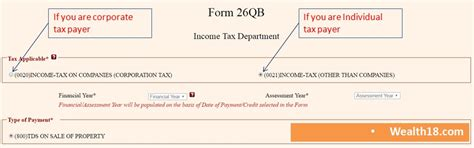 how to pay tds on property form 26qb 16b wealth18 com