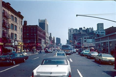 Nyc Harlem Street Scene 1976 Stock Photo Download Image