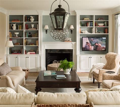 Living Room With Fireplace And Bookshelves by Family Room Fireplace Tv Built In Shelving Stuff