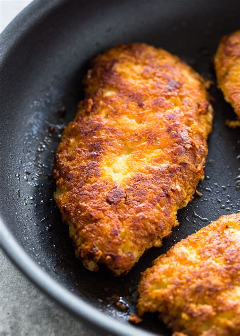 crispy parmesan crusted chicken breasts  carb keto