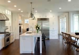 kitchen and dining room layout ideas ilot central cuisine avec table intégrée deco maison moderne