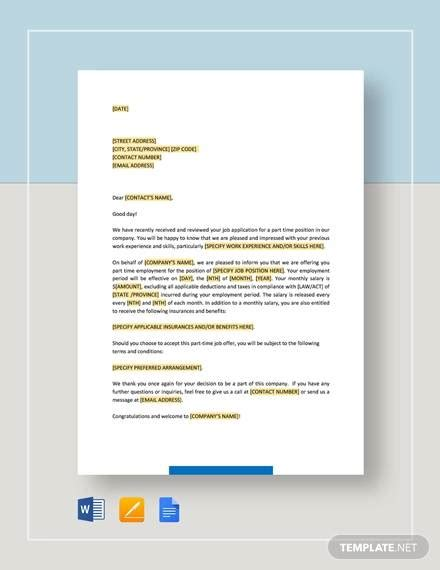 sample offer letter template    documents