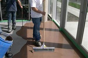 tile should i use self leveling concrete or mortar to With thinset concrete floor