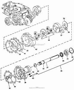 Simplicity 1691766 - Gth  16hp Hydro Parts Diagram For Eaton 850 Transaxle