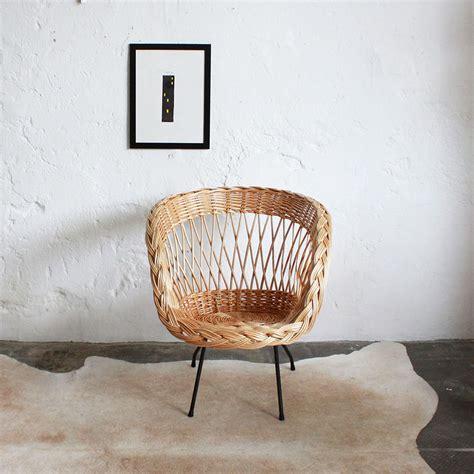 fauteuil en osier vintage fauteuil osier vintage maison design goflah