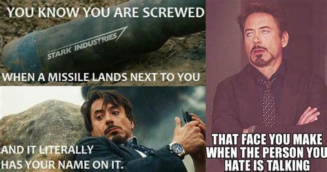 Tony Meme 15 Hilarious Tony Stark Memes That Are Guaranteed To Make