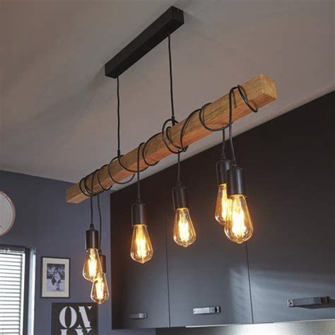 kitchen island bar table lustre cuisine suspension luminaire bleu marchesurmesyeux