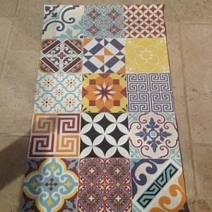 Tapis Carreaux De Ciment Saint Maclou : tapis beija flor eclectic e10 carreau ciment painted floors flooring et tiles ~ Nature-et-papiers.com Idées de Décoration
