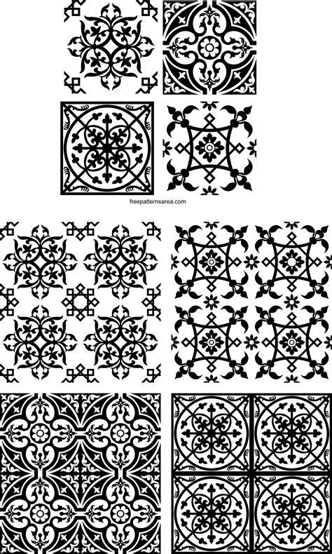 decorative square ornament tile art vector patterns