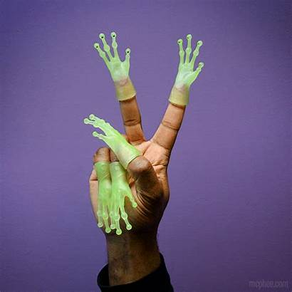 Finger Glow Alien Hands Dark Bulk Puppets