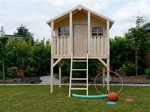 Cabane De Jardin Enfant : cabane pour enfants sur pilotis 1 8 x 1 9 m 81041 ~ Farleysfitness.com Idées de Décoration