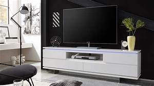 Tv Board Weiß : tv board balin lowboard wei matt lackiert mit led ~ Frokenaadalensverden.com Haus und Dekorationen