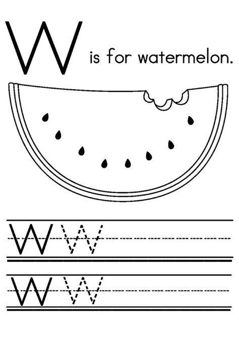 printable watermelon coloring pages watermelon coloring pictures  preschoolers kids