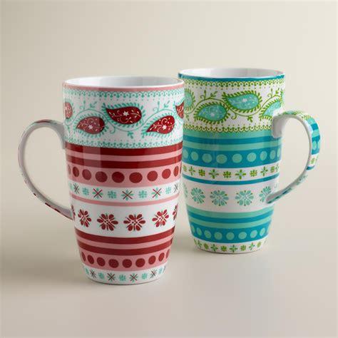 Average rating:5out of5stars, based on1reviews1ratings. Fair Isle Mugs, Set of 2 | World Market | Mugs, Mugs set, Affordable gifts