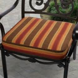 indoor outdoor 20 inch striped chair cushion with