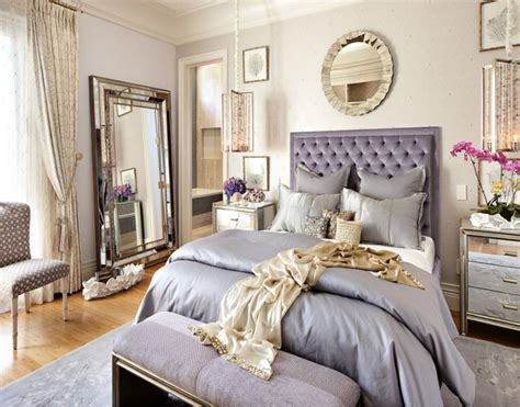 silver purple  gold bedroom bedrooms   gold