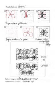 Zentangle Tangle Pattern Steps Design
