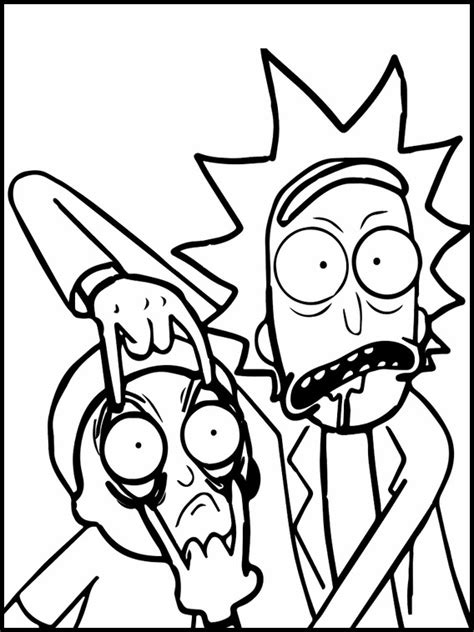 rick  morty printable coloring pages
