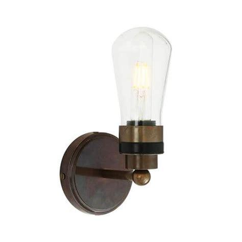 simple industrial single bathroom led wall light