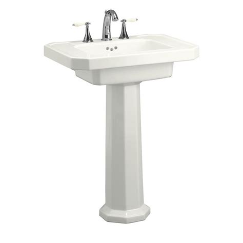 Pedestal Sinks Home Depot by Kohler Kathryn Ceramic Pedestal Combo Bathroom Sink In