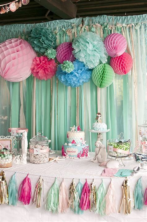 kara 39 s party ideas littlest mermaid 1st birthday party as 39 melhores imagens em for children no