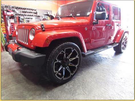 lowered jeep wrangler unlimited 2016 jeep wrangler sahara lowered riding on 22 inch custom