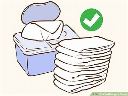 Change Diaper Clipart Wikihow Disposable Butt Ways