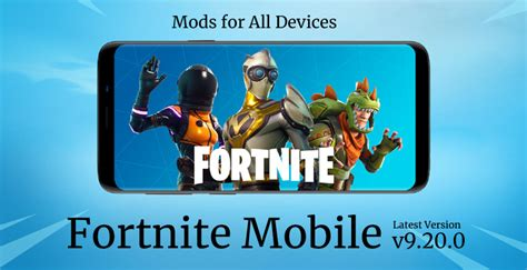 fortnite mobile android apk  mod  device