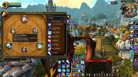 world  warcraft patch  frost mage guide glyphs