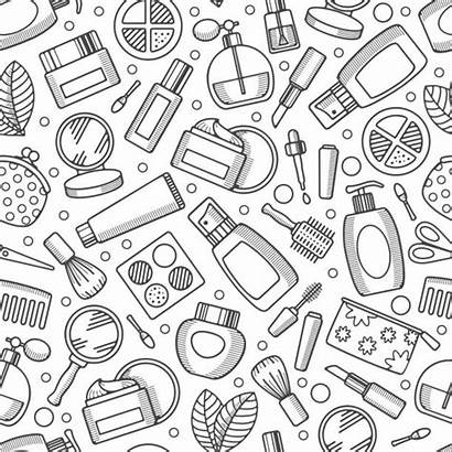 Tools Clip Hair Vector Cosmetics Pattern Illustrations