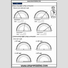 Using A Protractor To Measure Angles, Mathematics Skills Online, Interactive Activity Lessons