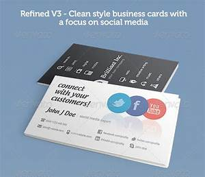 56 visually stunning psd business card templates web With business cards social media