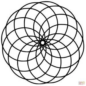 Circle Mandala Coloring Pages Printable