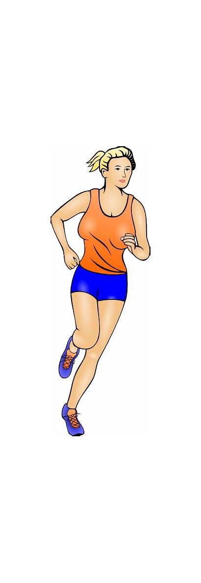 Runner Clipart Clip Marathon Woman Female Jogging