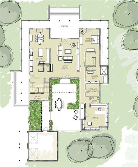 style home plans with courtyard house plans with atrium home deco plans